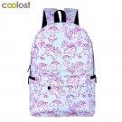Kawaii Unicorn Backpack Rainbow Pony Horse Children School Bags Backpack for Tee