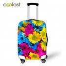 """Flower Luggage Protective Covers for 18"""""""" - 28"""""""" Cases Elastic Pink Suitcase Cover"""
