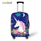 18-28 Inch Pink Suitcase Protective Covers Cartoon Unicorn Luggage Cover Elastic