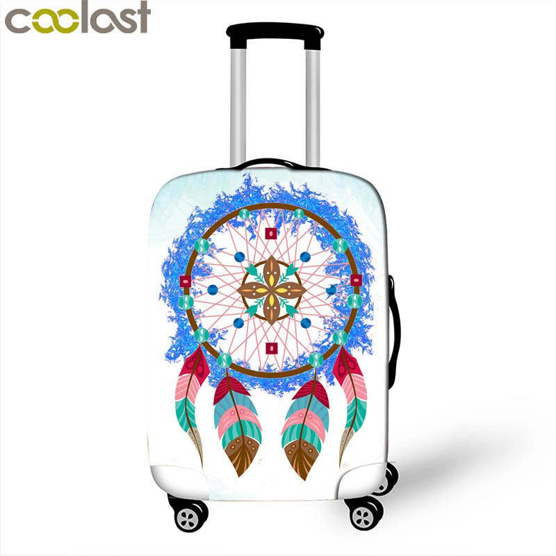 Dreamcatcher Suitcase Covers 3D Dust-proof Luggage Protective Cover for Girls va