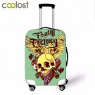 18-28 Inch Skull Luggage Protective Covers 3D Cool Punk Women Suitcase Cover Ela