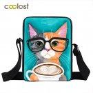 Coffee Cat Shoulder Bag Boys Girls Animal Bao Bao Skull Women Messenger Bag Pand