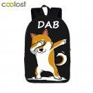Dab Puppy Shiba Inu Dog Backpack Children School Bags Dab Panda Backpack for Tee