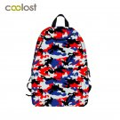 Camouflage Women Backpack for Teenagers Fresh Fruit bolsa mochila Kawaii Toddler