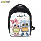 Cartoon Owl Backpack Animal Print Children Book Bags Girls School Backpacks for