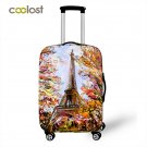 Eiffel Luggage Cover for Trip 18-28 Inch Elastic Travel Case Cover valise Trolly