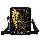 Anime Attack on Titan Mini Messenger Bag Boys Ataque On Titan School Bags Mikasa