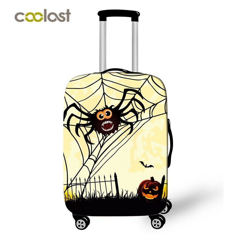Spider Trolley Luggage Cover Cartoon Girls Suitcase Protective Cover Elastic val