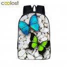 Butterfly Backpacks for Teenage Girls Boys Book Bag Children School Bag Flower L