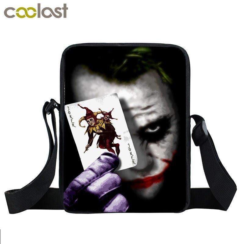 Joker Crossbody Bags for Men Fantastic Skull Messenger Bag sacoche homme 3D Kids