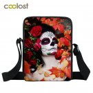 Sugar Skull Crossbody Bags for Girls Mini Messenger Bag Punk Women Handbag Gothi