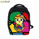 Cartoon School Bags for Girls Boys Owl Backpack Funny Dog Kids Bag Schoolbag Cas