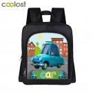 Customize Your Name / Logo Backpack for Boys Car Boat Book Bag Children Backpack