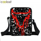 Bull Paint Splatter Crossbody Bag For Girls Boy School Bags Crown 23 Women Handb