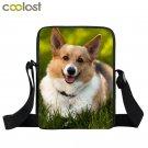 Cute Corgi Crossbody Bags for Women Handbag Pet Dog Bao Bao Boys Girls School Ba
