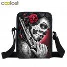 Dark Gothic Mini Messenger Bag Skull Crossbody Bags for Girls Boys Men Viking Wa