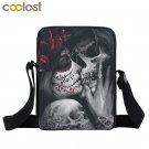 Dark Gothic Girl Mini Skull Crossbody Bags for Men Punk Bao Bao Kids Rock Beach