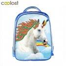 Cartoon Unicorn Backpack Boys Girls School Backpack 13 Inch Animal Print Childre