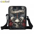 Rock Guitar Skull Rose Mini Messenger Bag Women Handbags Punk Small Shoulder Bag