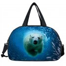 Carry on luggage Men Travel Bags 3D Large Duffle Bag Animal Dog Tiger Bear Women