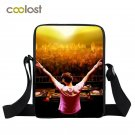 3D DJ Print Women Shoulder Bag Hot Rock Boys Girls Mini Messenger Bags Kids Scho