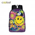 Cartoon Emoji Bag Women Backpack for School Girls 3D Smiley Face Laptop Travel B