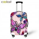 Butterfly Trolley Suitcase Protective Covers koffer Travel Accessories Elastic L