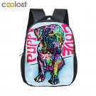 Boston Terrier Backpack Children School Bag Backpacks Kids Cartoon Kindergarten