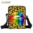 Red Lips Mini Shoulder Bag Kids Travel Bags Colorful Children School Bags Women