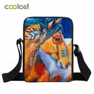 Fashion Women Handbags for Girls Horse Graffiti Mini Messenger Bag Animal Print