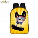 Cartoon Dog Tiger Backpack School Bags for Boys Girls Monkey Skateboard Schoolba