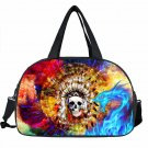 Skull Luggage Bag Women Handbag 3D Skeleton Print Men Travel Bag Big Size Ladies