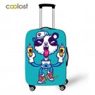 Coolost Cartoon Monster Travel Accessories Suitcase Protective Covers Nom Nom El