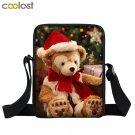 Merry Christmas Crossbody Bag for Men Cat Mini Messenger Bag 3D Women Handbag Ch