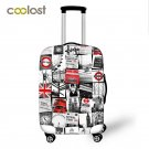 """British Style Luggage Protective Cover Elastic Travel Accessories for 18""""""""-28"""""""" va"""