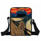 Funny Cookie Monster Mini Messenger Bag Oil Painting The Scream Women Men Hhandb