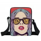 Punk Women Messenger Bag Kpop Children School Bags Boys Girls 3D Hip Hop Bags Ko