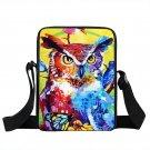 Oil Painting Messenger Bags Colorful Animals H Owl Cat Fox Shoulder Bag Children