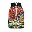 Eiffel Backpack for Teenager Girls Boys School Bags Oil Painting Teen mochila Wo