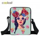 Kpop Punk Women Messenger Bag Girls School Bags Hip Hop Style Mini Shoulder Bag
