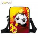 Foot Ball Print Crossbody Bags for Men Travel Handbag Portable Boys School Bags