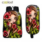 Gothic Backpack for Teenage Girls Boys Book Bag Children School Bags Student Bac