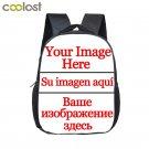 Customize Your Logo Image Kindergarten Backpack Unicorn Girls Boys School Bag Ki