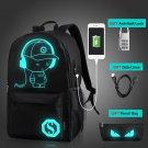 2018 Anti-theft Nightlight School Bags USB Charging Men Luminous Backpacks Mochi