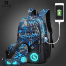 """NEW Fashion Men""""""""s Backpack Luminous Students School Bags  External USB Charge"""