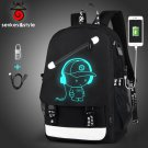 "2018 Fashion Men""""s Backpack Teenagers Luminous School Bags Anti-thief Backpack U"