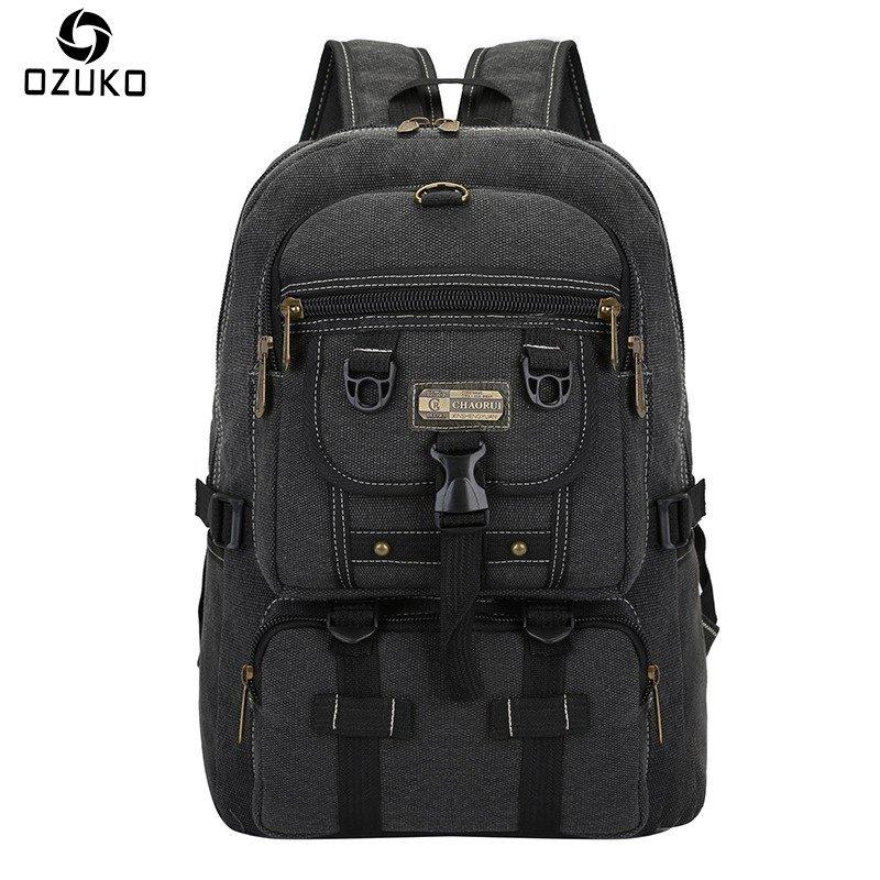 2018 New Fashion Men Canvas Backpack For Male Large Capacity Travel Mochila Vint