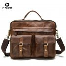 NEW Genuine Leather Men Bags Crazy Horse Leather Male Crossbody Shoulder Bag B