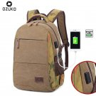 NEW New Canvas Men Backpacks USB Design for 15.6 inches Latop backpack Large C