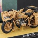 Atlas German DAK Afrika BMW R75 Motorcycle 1939-1945 1/24 Diecast Model